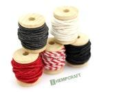 Hemp Twine Mini Spools, Color Combo, High Quality 1mm Craft Cord