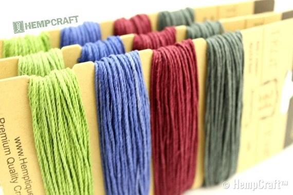 Hemp Twine, Earthy Pastel Color Card - 1mm Four Pack Hemp Craft Cord