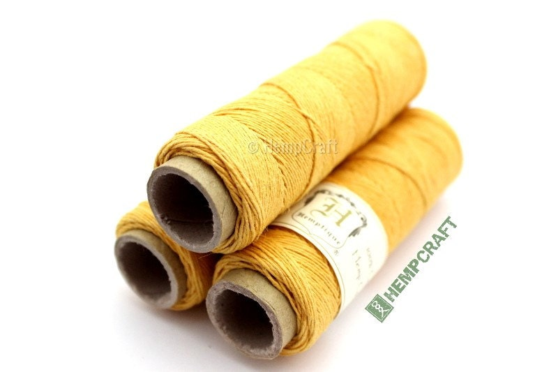 micro macrame cord micro macrame cord thin hemp twine gold yellow high quality 4162