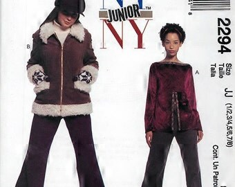 McCalls 2294 NY NY Misses Jacket Pants Top Sewing Pattern Breast 32 to 35
