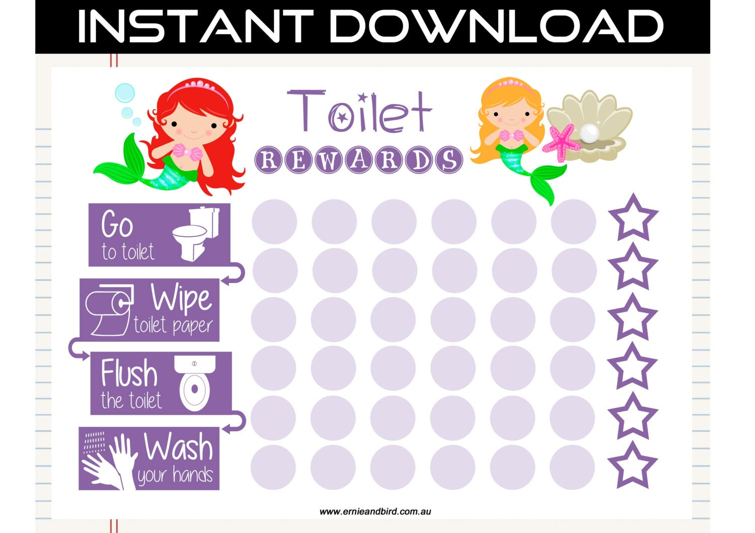 Effortless image in printable potty training chart