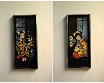 1970s Constanza Geisha Girl Prints, Set of 2