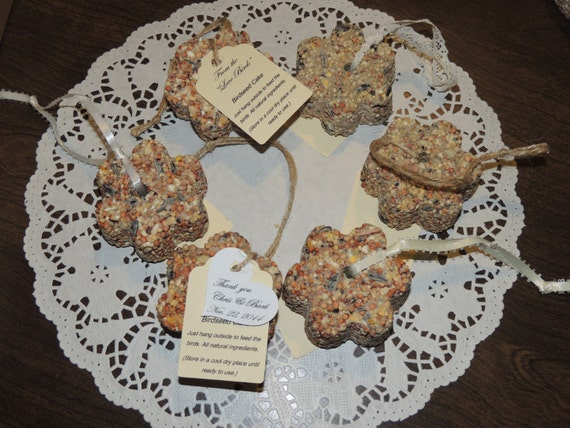 25 All Natural FLOWER Or HEART Shaped Birdseed Cake Wedding
