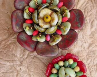 Succulent Flower KIT Red