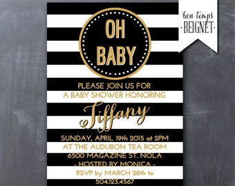 Black And White Baby Shower Invitations was very inspiring ideas you may choose for invitation ideas