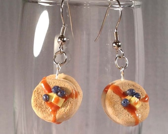 Stake of Pancake Earrings.  Polymer clay