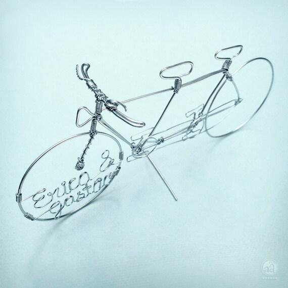 tandem fahrrad draht kunst hochzeitstorte topper hand. Black Bedroom Furniture Sets. Home Design Ideas
