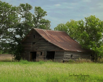 Wood and Rusty Old Barn