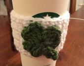 St patrick's day Crochet Coffee Cozy / Sleeve