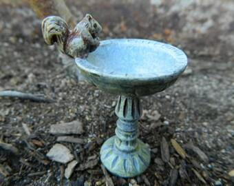 Fairy Garden Birdbath Squirrel Birdbath Fairy garden Miniatures fairy Garden Accessories