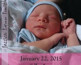 Girls Birth announcement PSD