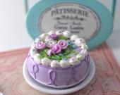 Doll Food French Celebration Individual Cake Lavender Pattisserie Thomas Madame Alexander AG Ready to Ship on Etsy