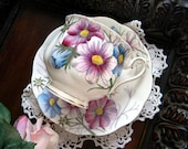 Royal Albert  Cosmos Teacup, Hand Painted Tea Cup and Saucer - Flowers of the Month 11743