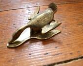 Duck, Duck, Goose... Vintage Brass Duck or Goose Paper Clip