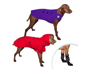 VIZSLA Moderate Climate Special, Dog Rain Coat, Raincoat, Dog Sweater, Dog Booties, Fleece Sweater, Waterproof Dog Coat, Dog Clothing,