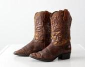 1970s Durango cowboy boots, women's size 5.5