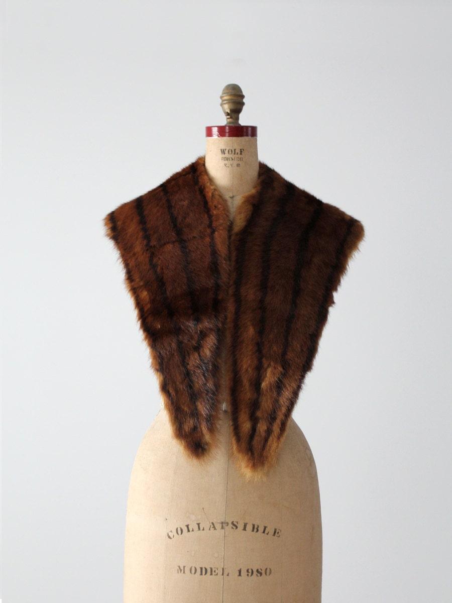 1950s mink stole vintage fur shawl for Kunstleder fur stuhle