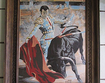 1979 Large Paint by Number by SDB, in Plastic Frame