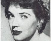 Polly Bergen Arcade Exhibit Card Vintage Paper Ephemera Actress