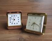 Vintage Set of Travel Alarm Clocks