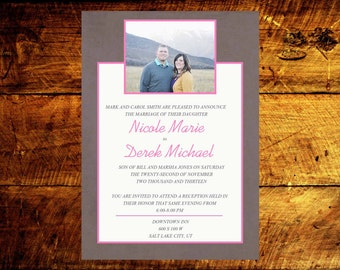 modern wedding invitations, wedding invitations, wedding invites, rustic wedding invitations, unique wedding invitations