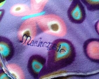 Custom Embroidered baby blanket, custom blanket, blanket, personalized baby blanket, fleece blanket, fleece embroidered blanket, baby gift
