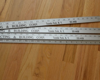 Vintage Lot of 4 Yardstick ruler instant collection Advertising silver