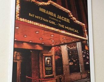 PLAYBILL style Custom PRAYBILL theater Bar or Bat Mitzvah program 4 page Broadway themed NY Deposit