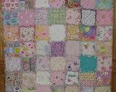 Custom order for Kathi deposit - I spy baby girl rag quilt size to be determined