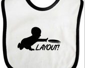 Ultimate Frisbee Baby Bib, Layoutl Ultimate Frisbee Diaper Bib