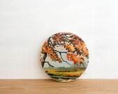 Paint by Number Circle Art Block 'Autumn Scene' - fall landscape, pastoral, vintage art
