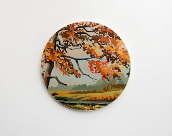 Paint by Number Large Circle Art Block 'Colors of Autumn' - fall scenery,  vintage landscape