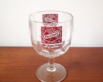 Vintage Falstaff Beer Glass Barware