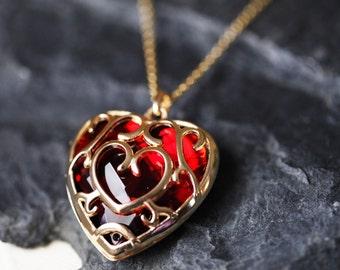 Zelda Heart Container Necklace, Legend of Zelda Heart Necklace, Real Legend of Zelda Pendant, Legend of Zelda Pendant, Heart Container