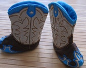 New ultimate designed Stitched Baby Cowboy boots - In the hoop project - new technology - machine embroidery ITH designs 5x7