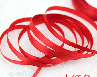 Red Ribbon Terylen Lace Trim 0.23 Inch Wide 22 meters