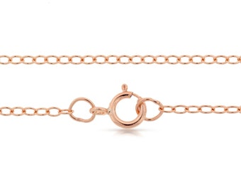 14Kt Rose Gold Filled 2x1.6mm 36 Inch Cable Chain With Clasp - 1pc 10% Discounted (7517)/1