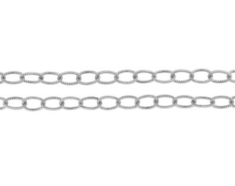 Sterling Silver 4x3mm Twisted Cable Chain - 5ft (2471-5)/1