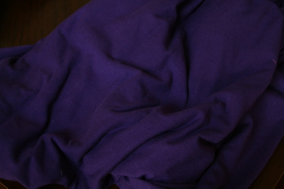 Eggplant Cotton Lycra Fabric (yard)