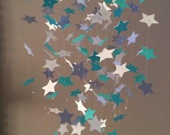 star light, star bright - Star mobile - gray and white