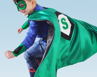 Personalized Mask and Superhero Cape - 8 to 99 years