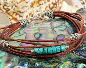 Leather bracelet  multi strand bracelet Bangle Bracelet Boho Jewelry Hippie Bracelet