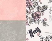 Bridesmaid Robes. Kimono. Bridesmaid Robe. Kimono Robe. Robe. Bridesmaids Gift. Joie de Vivre Collection. Pink Grey White. Knee Length.