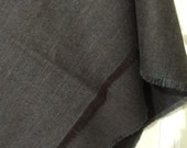 Vintage Handmade Dark Brown Wool Shawl, Heavy and Warm Never Worn; New Condition