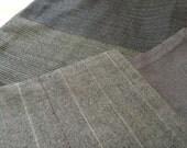 Reversible Raw Silk and Wool Scarf, OOAK
