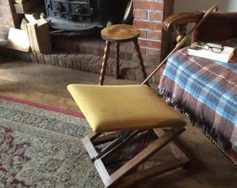 Vintage English orthopedic adjustable footstool foot stool rest footrest circa 1950's / English Shop