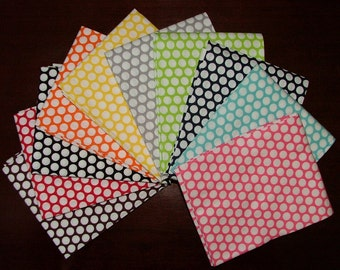 Honeycomb Polka Dot Fat Quarter Bundle of 10 with Colored Background by Riley Blake