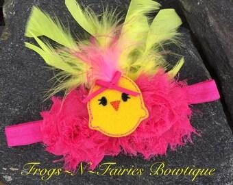 Easter Chick Baby Headband