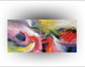 Skye Taylor ABSTRACT Original Painting Office Decor,master bedroom, UNSTRETCHED Huge Canvas Large Original Art Surreal 72 x 36 Skye Taylor