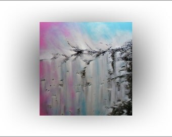 Abstract Turquoise Pink Art  Impasto Original painting -36 x 36- Skye Taylor